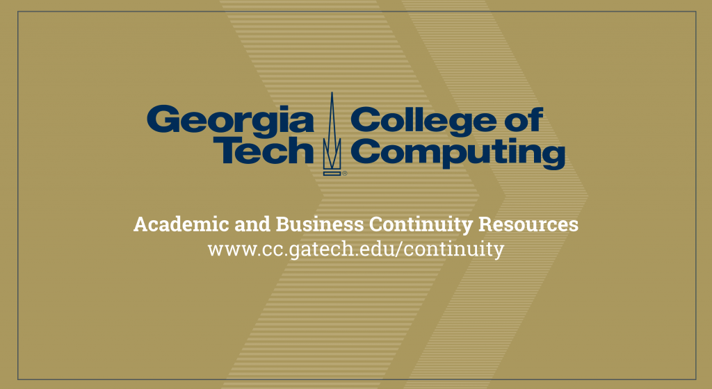 A gold background with the College of Computing logo